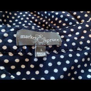 Market & Spruce Tops - Market & Spruce Polka Dot Blouse (Stitch Fix)